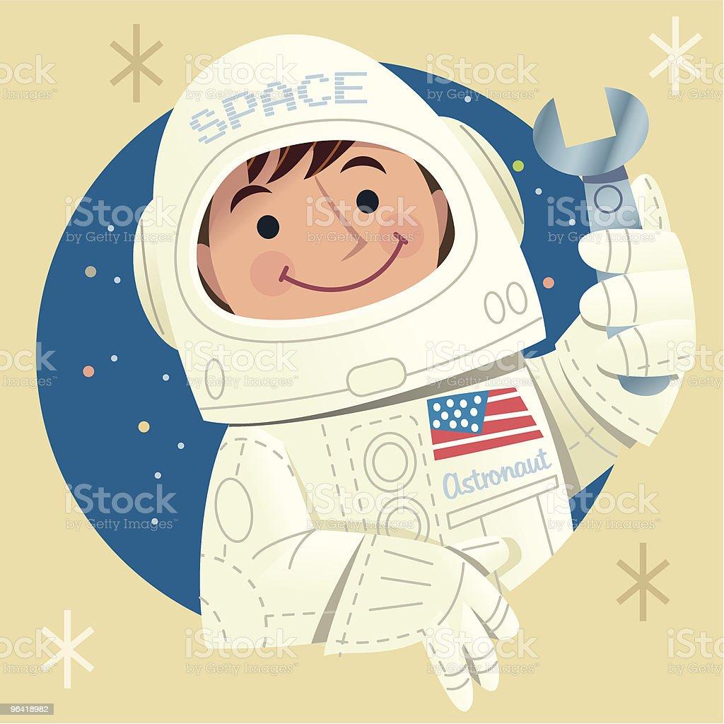 Space Boy royalty-free stock vector art