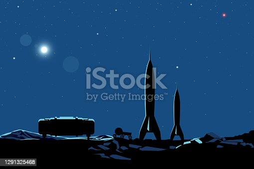 istock Space colonization poster 1291325468