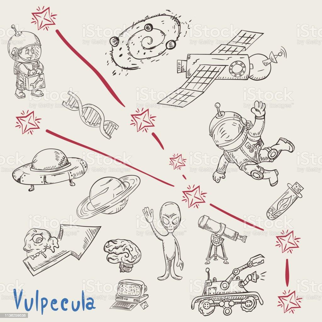 Ilustración De Espacio Para Colorear Constellation12called