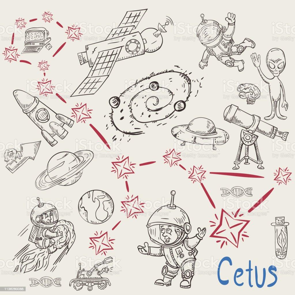 Ilustración De Espacio Para Colorear Constellation20called