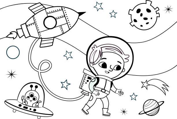 Top Kids Coloring Pages Clip Art, Vector Graphics and Illustrations ...