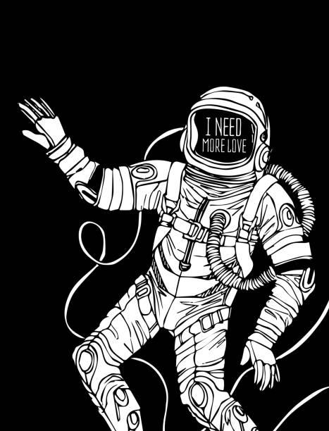 astronaut in space vector art - photo #10