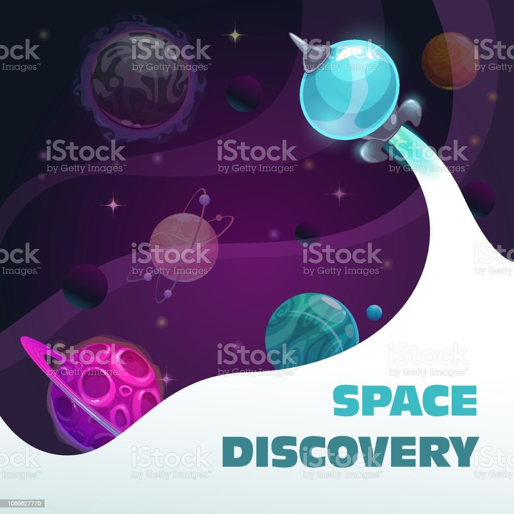 Space Discovery Concept Fast Spaceship Start Fantasy Space
