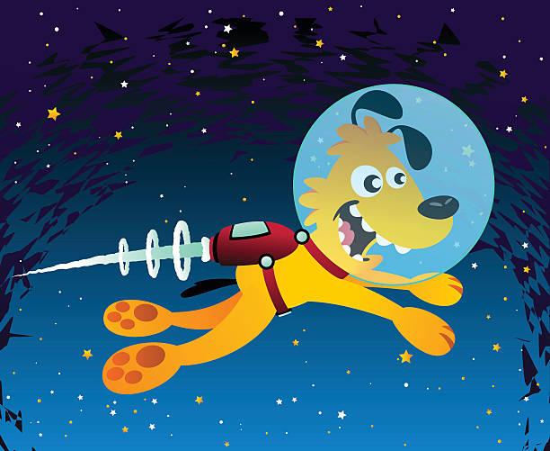 Space Dog vector art illustration