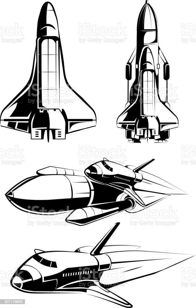 Space Elements For Vintage Astronaut Vector Labels Royalty Free Stock Art
