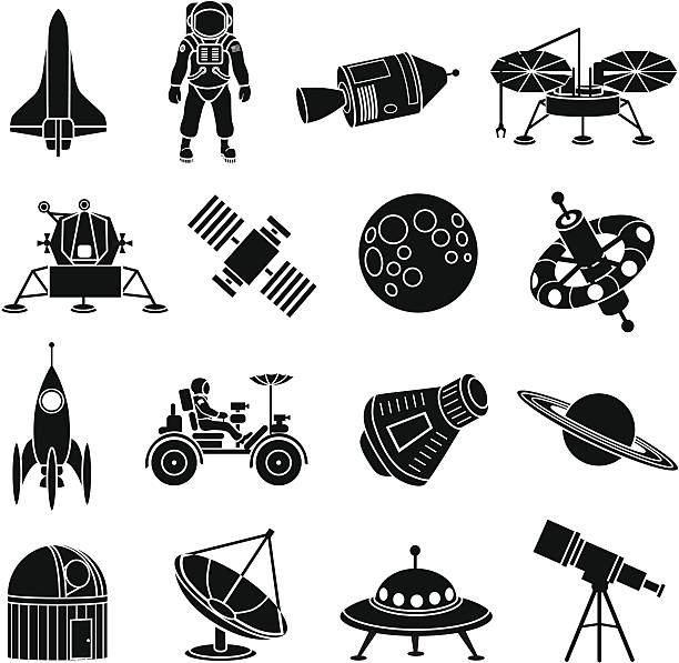 space exploration icons - space exploration stock illustrations, clip art, cartoons, & icons