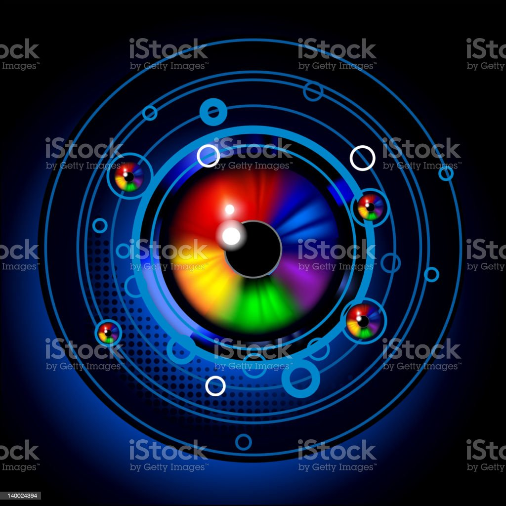 Space eye emblem royalty-free stock vector art