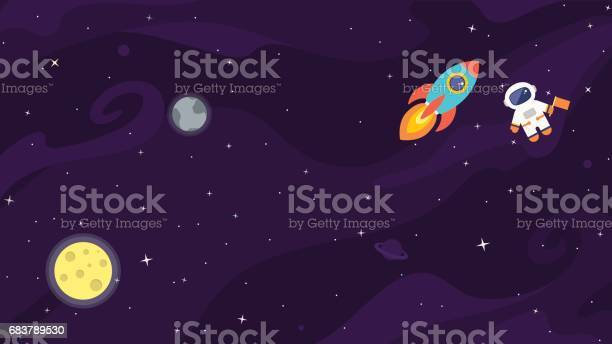 Space flat cute vector background vector id683789530?b=1&k=6&m=683789530&s=612x612&h=yvc dqzbejmnpogvd qjgicv6jixynnkzaiw385hwgq=