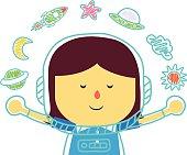 Space girl in imagine