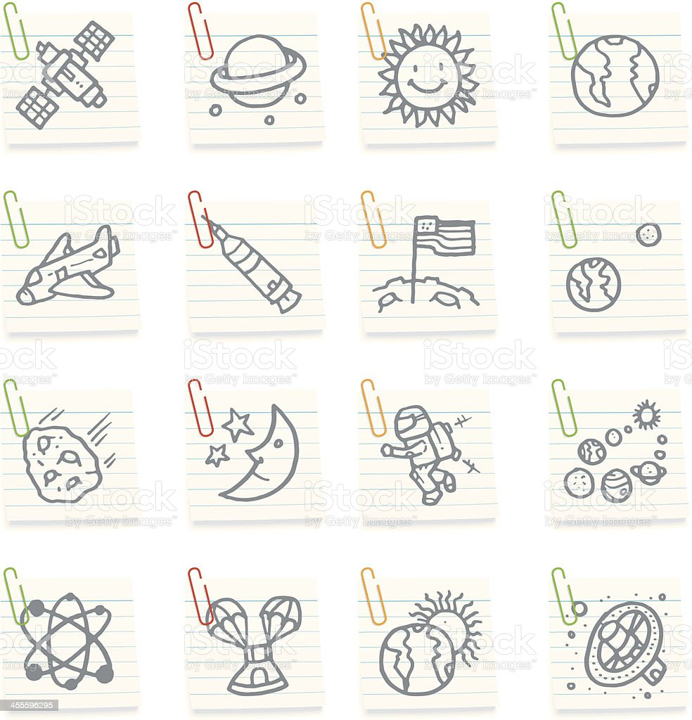 Space icon notes royalty-free stock vector art
