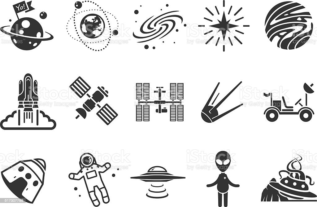 Space icons - Illustration vector art illustration