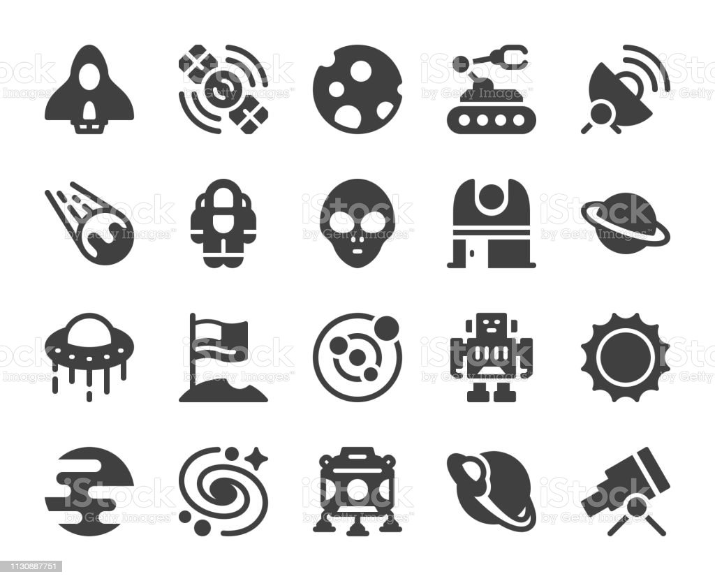 Space - Icons vector art illustration