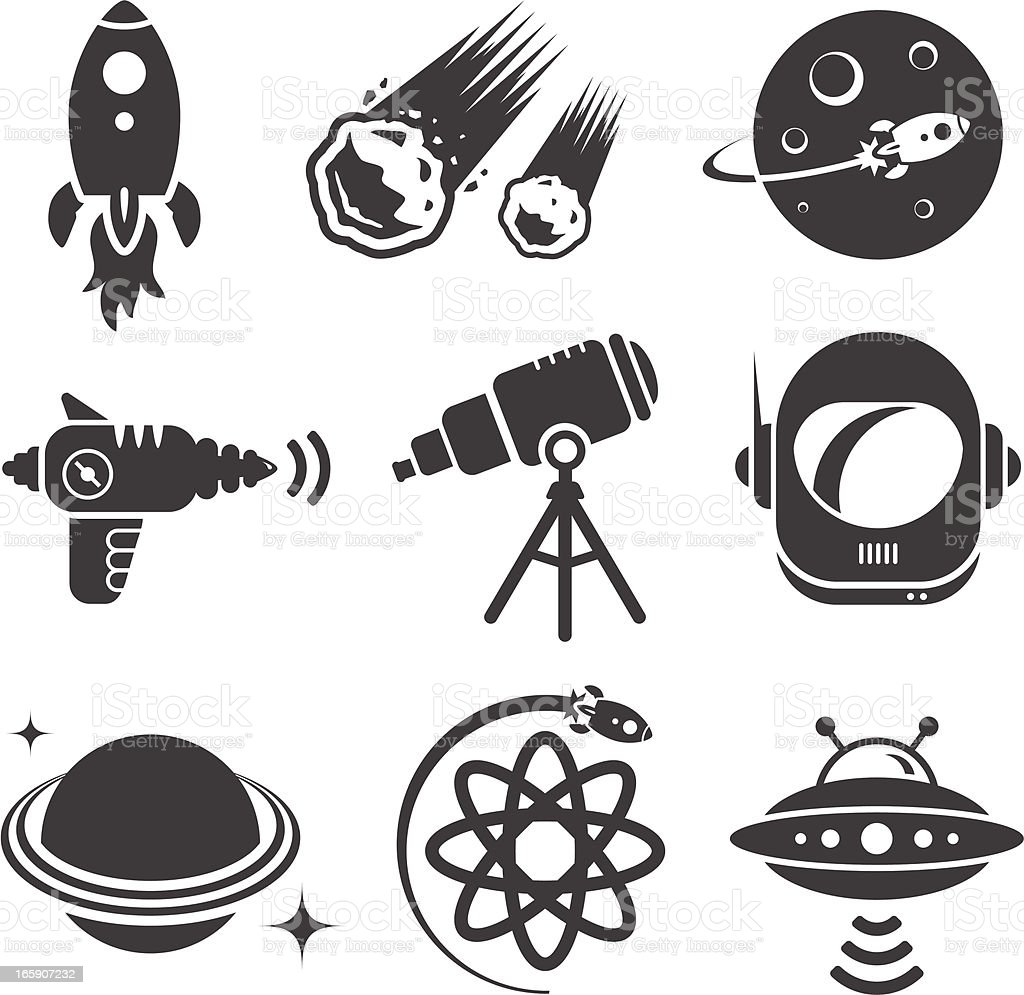 Space Icons royalty-free stock vector art