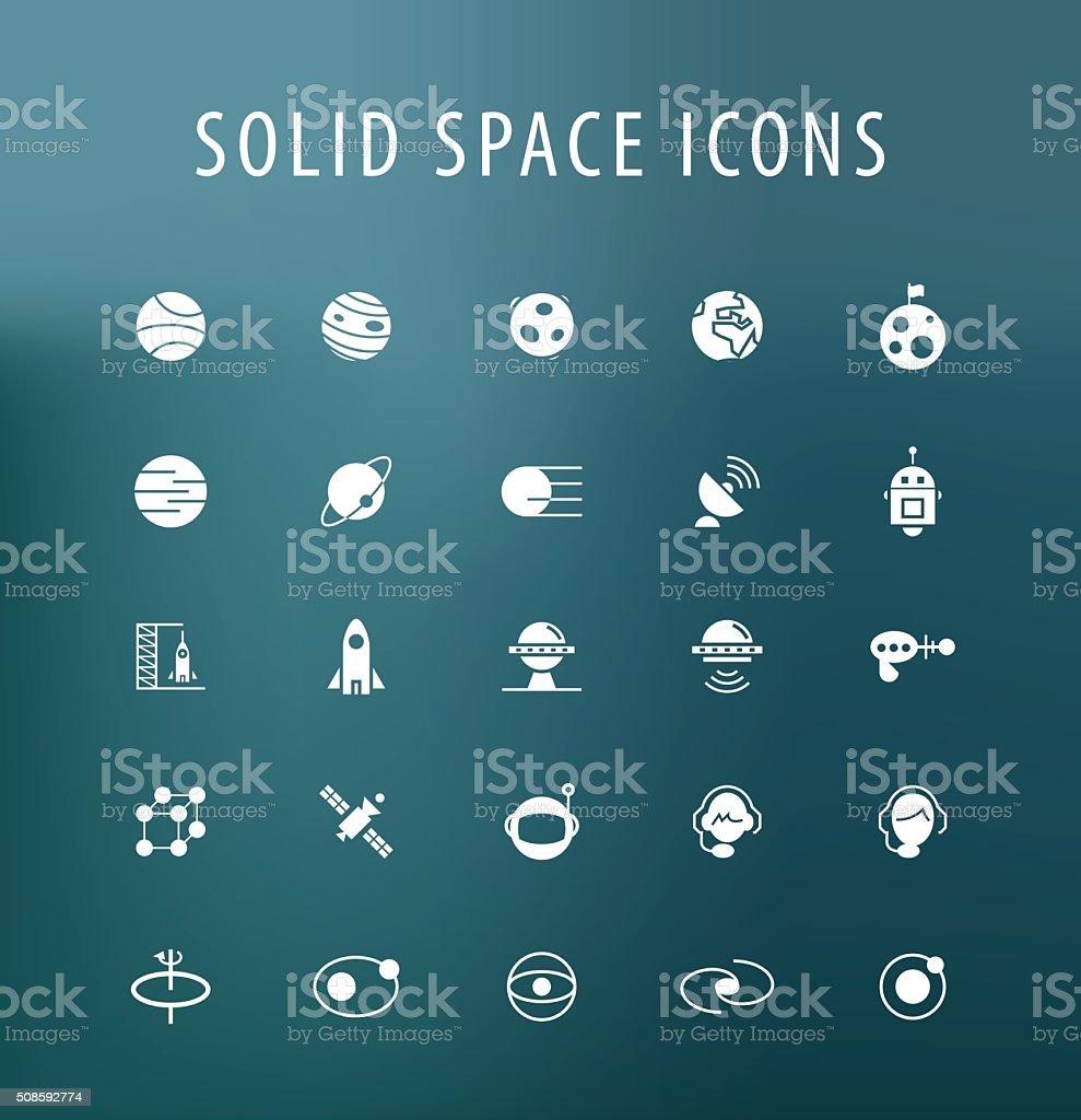 Iconos de espacio. - ilustración de arte vectorial