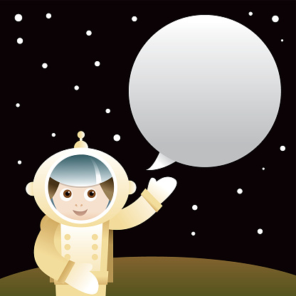 Пространство Человек — стоковая векторная графика и другие изображения на тему Астронавт