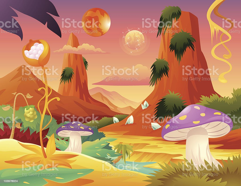 Space Planet royalty-free stock vector art