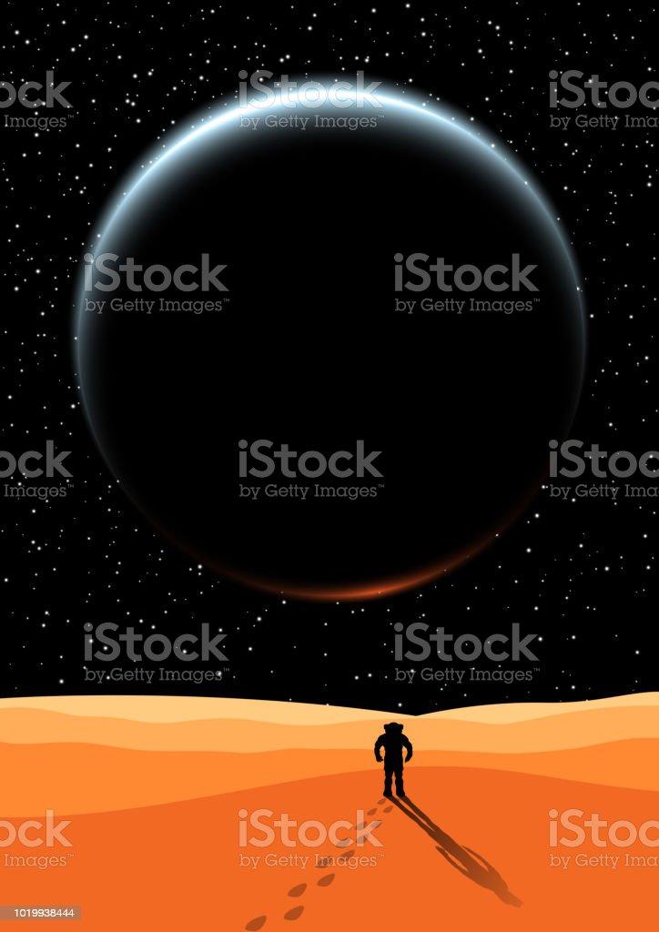 Espacio con dosel - ilustración de arte vectorial