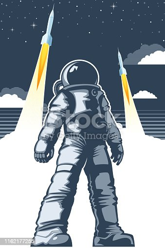 Astronaut space poster