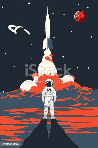 istock Space poster 1285495870