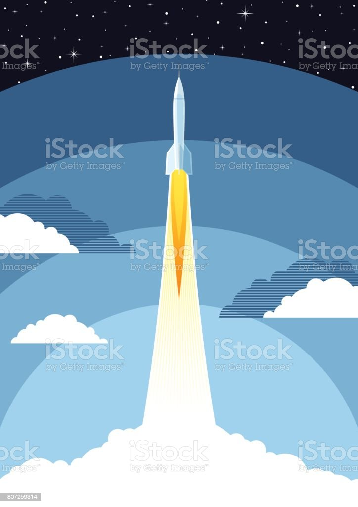 Space poster vector art illustration