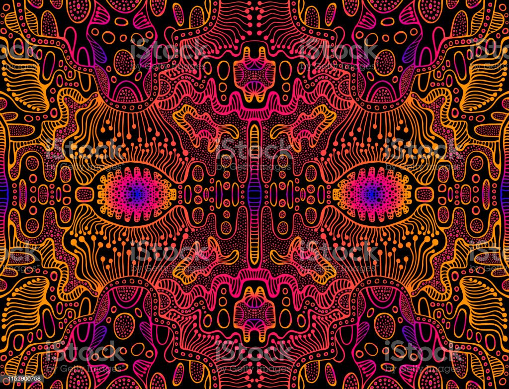 Space Psychedelic Trippy Abstract Texture Bright Pink Electric