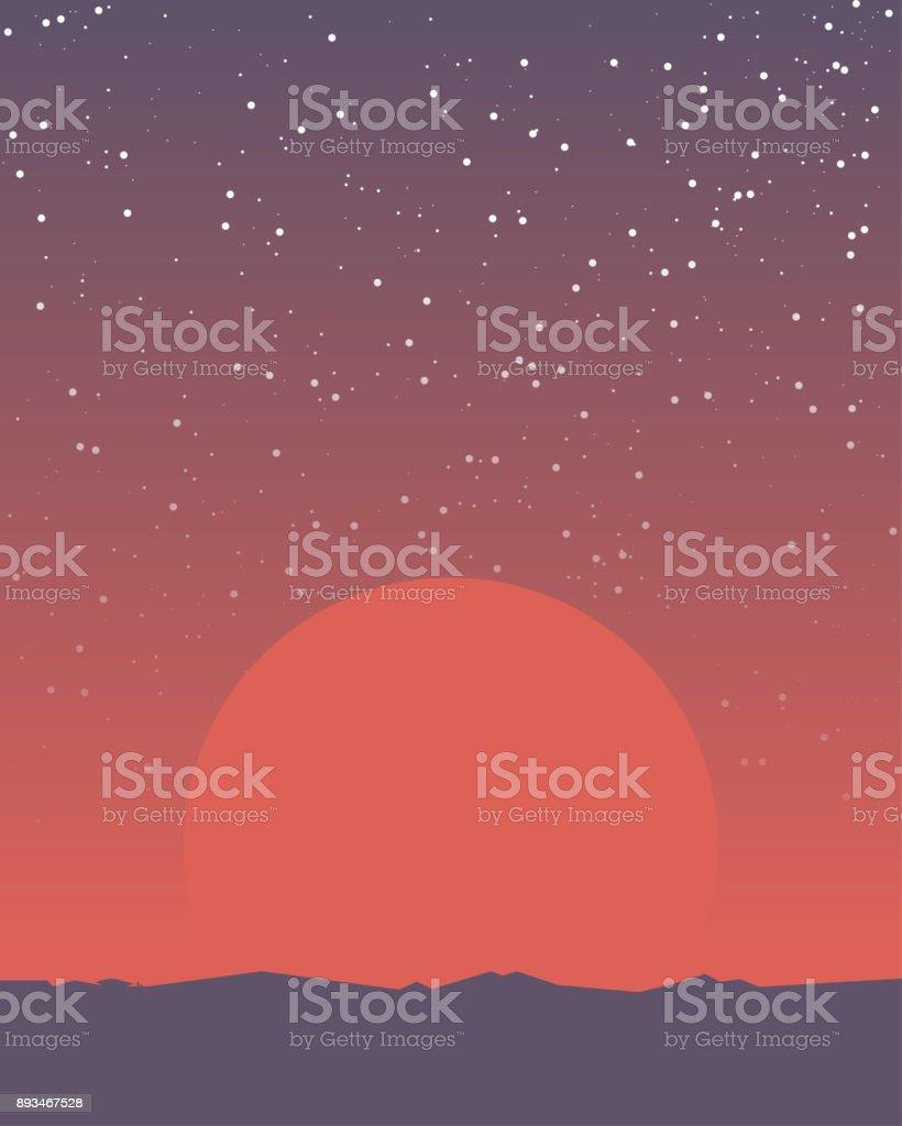 Raum Retro-banner – Vektorgrafik