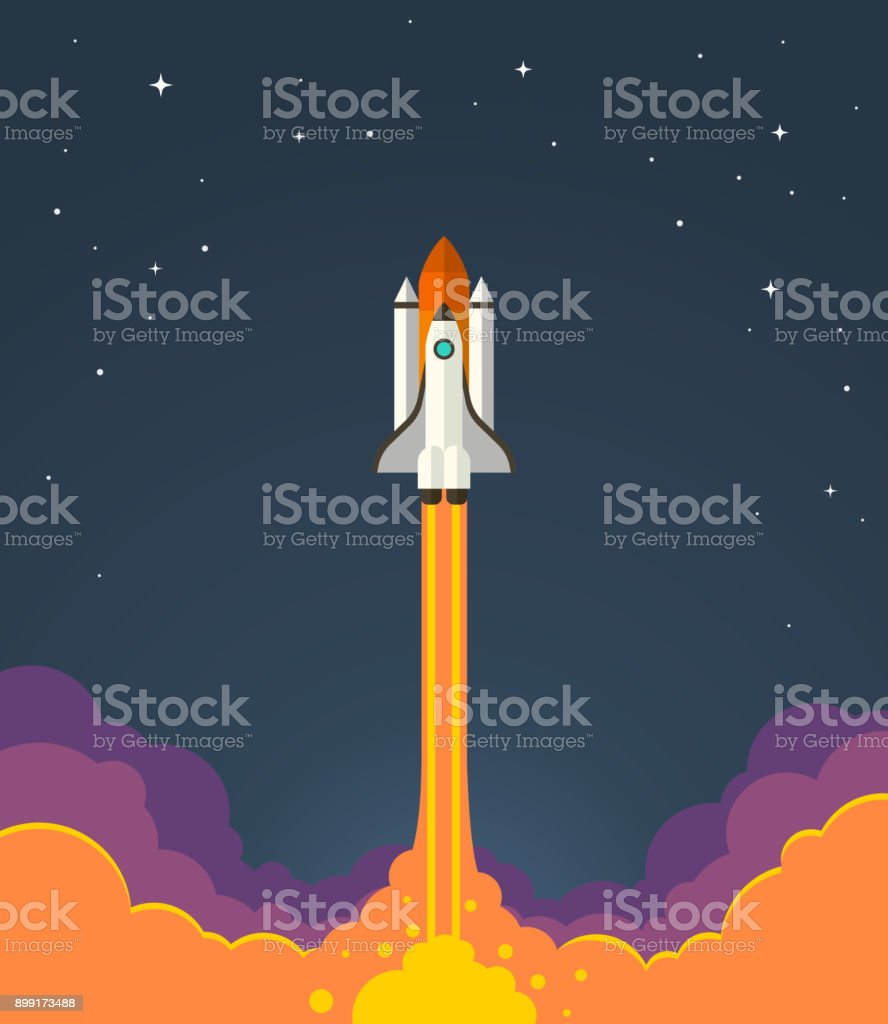 Space rocket launch.