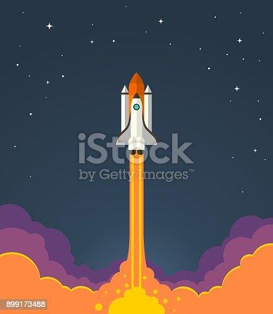 istock Space rocket launch. 899173488