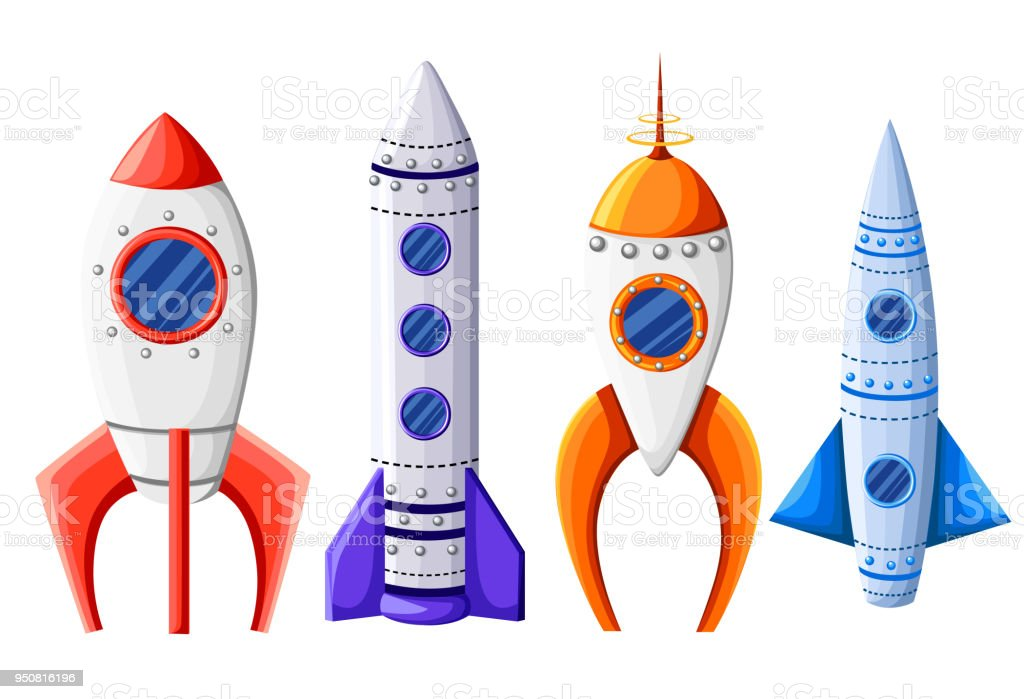 Space Rocket Start Up And Launch Symbol New Businesses