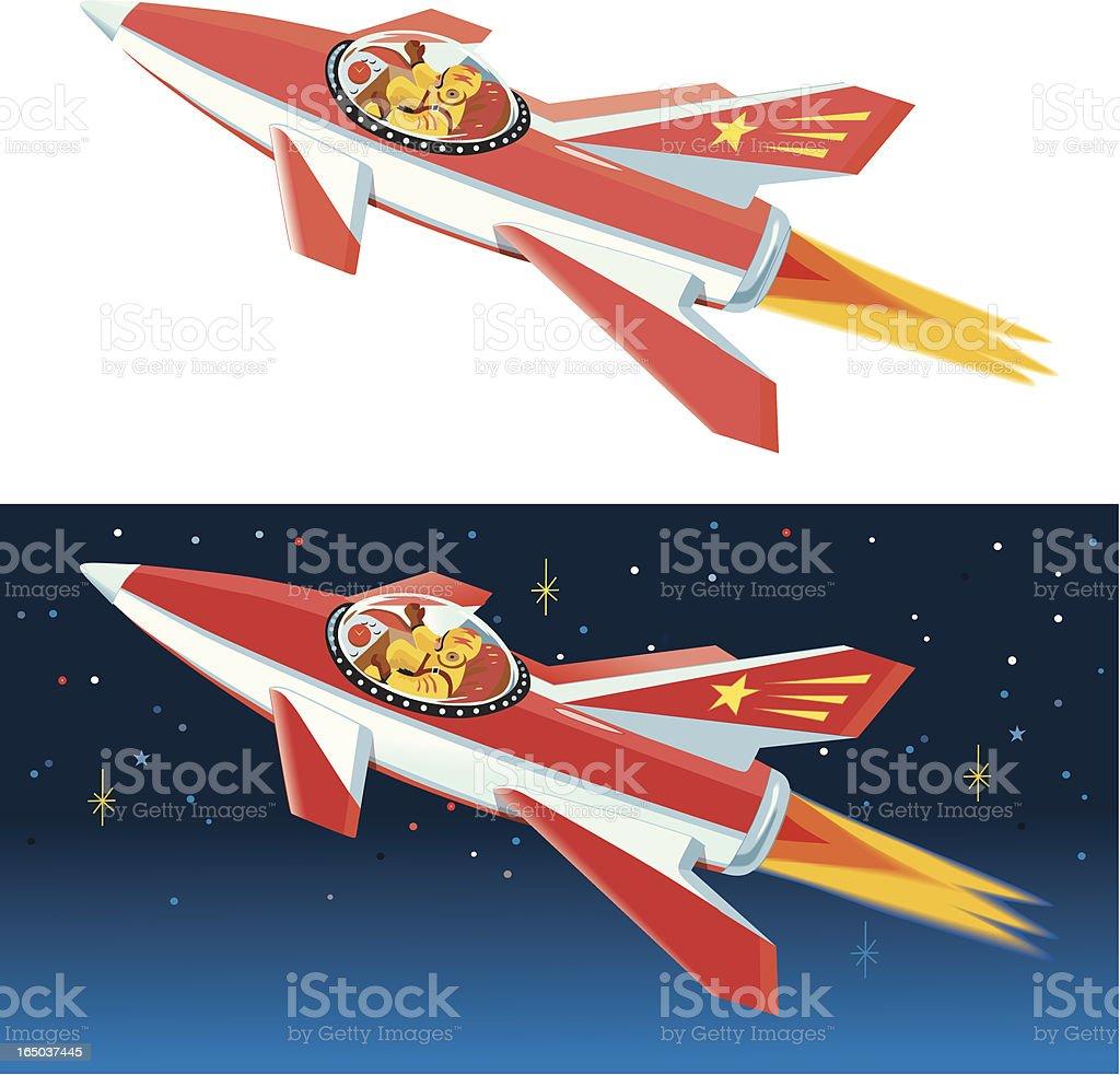 Space Rocket royalty-free stock vector art