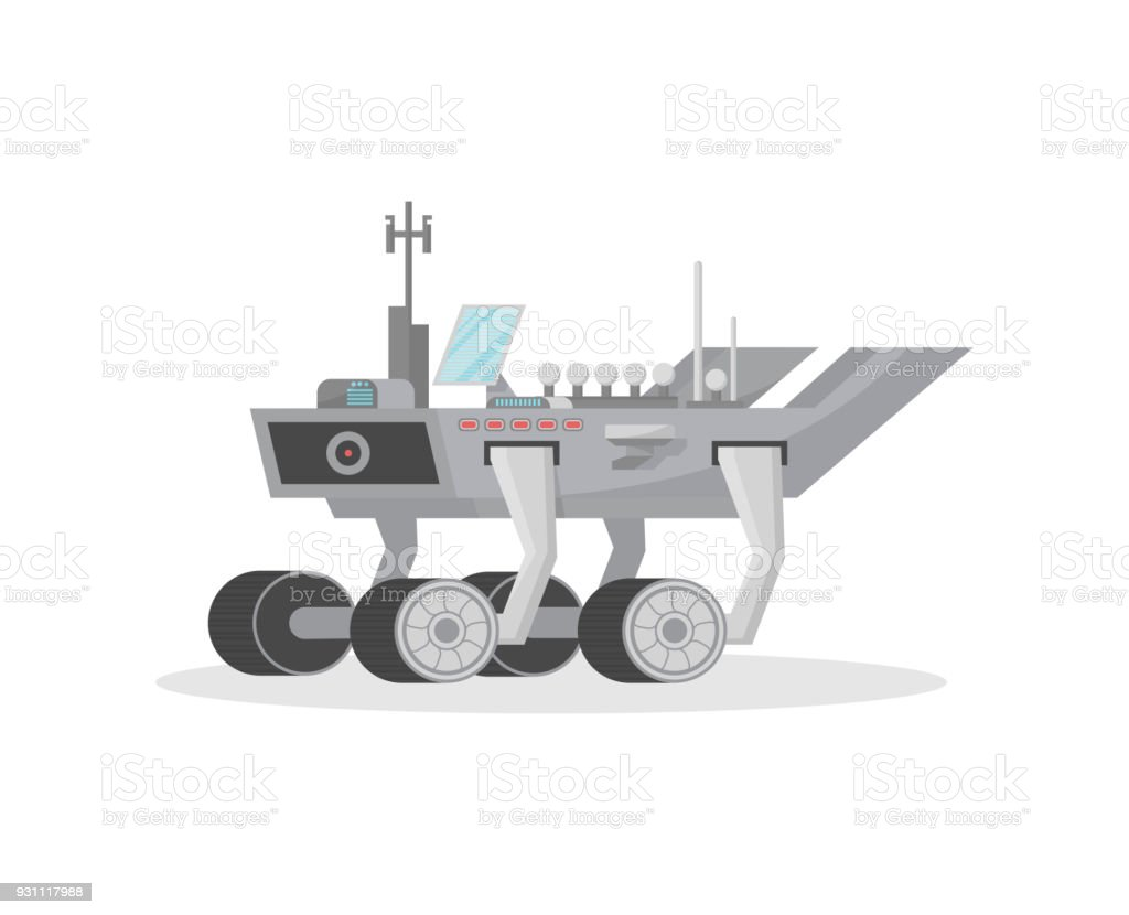 Space rover isolated vector icon vector art illustration