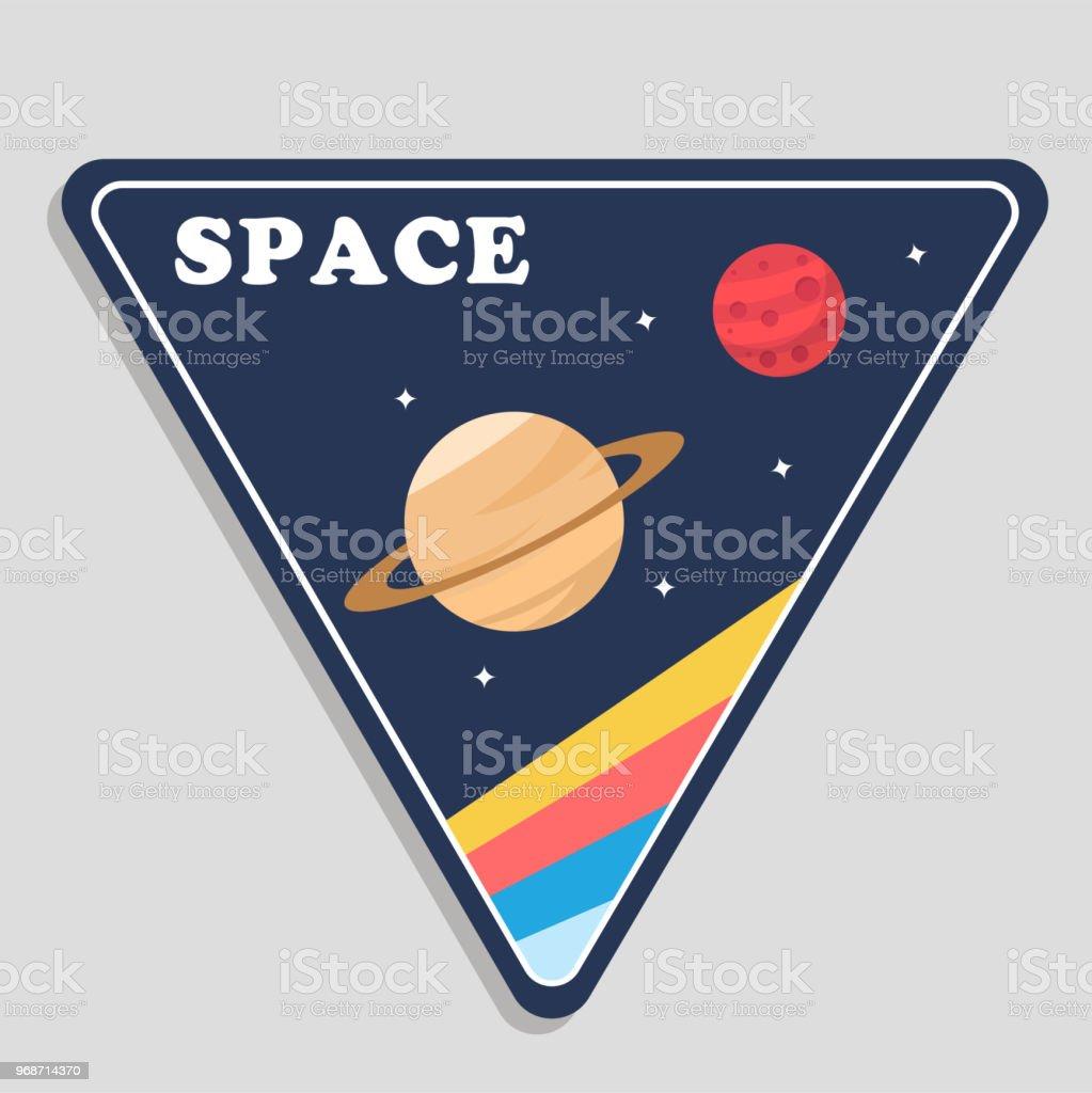 Raum Saturn Mars Dreieckrahmenhintergrundvektorbild Stock Vektor Art ...