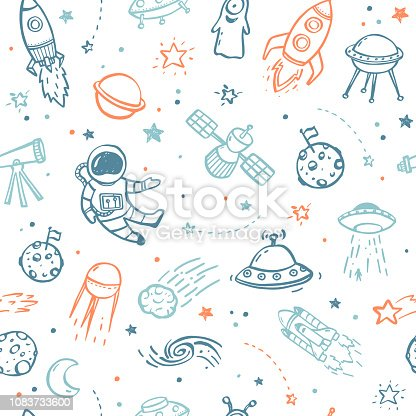 istock Space Seamless Pattern 1083733600