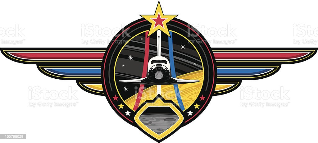 Space Shuttle Badge royalty-free space shuttle badge stock vector art & more images of air vehicle