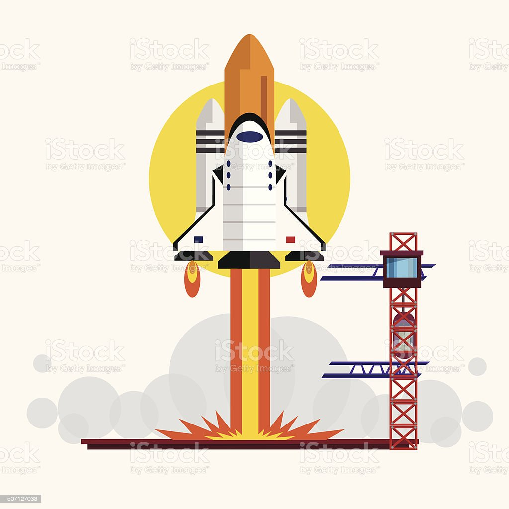 space shuttle launching vector illustration stock vector art more rh istockphoto com About to Launch Space Shuttle About to Launch Space Shuttle
