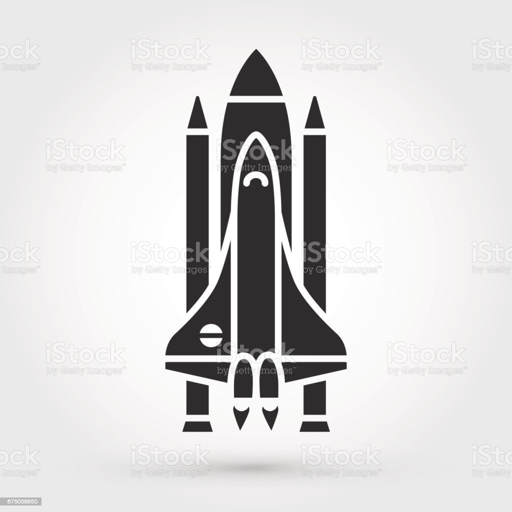 space shuttle vector icon stock vector art more images of rh istockphoto com space shuttle thrust vectoring space shuttle vector eps