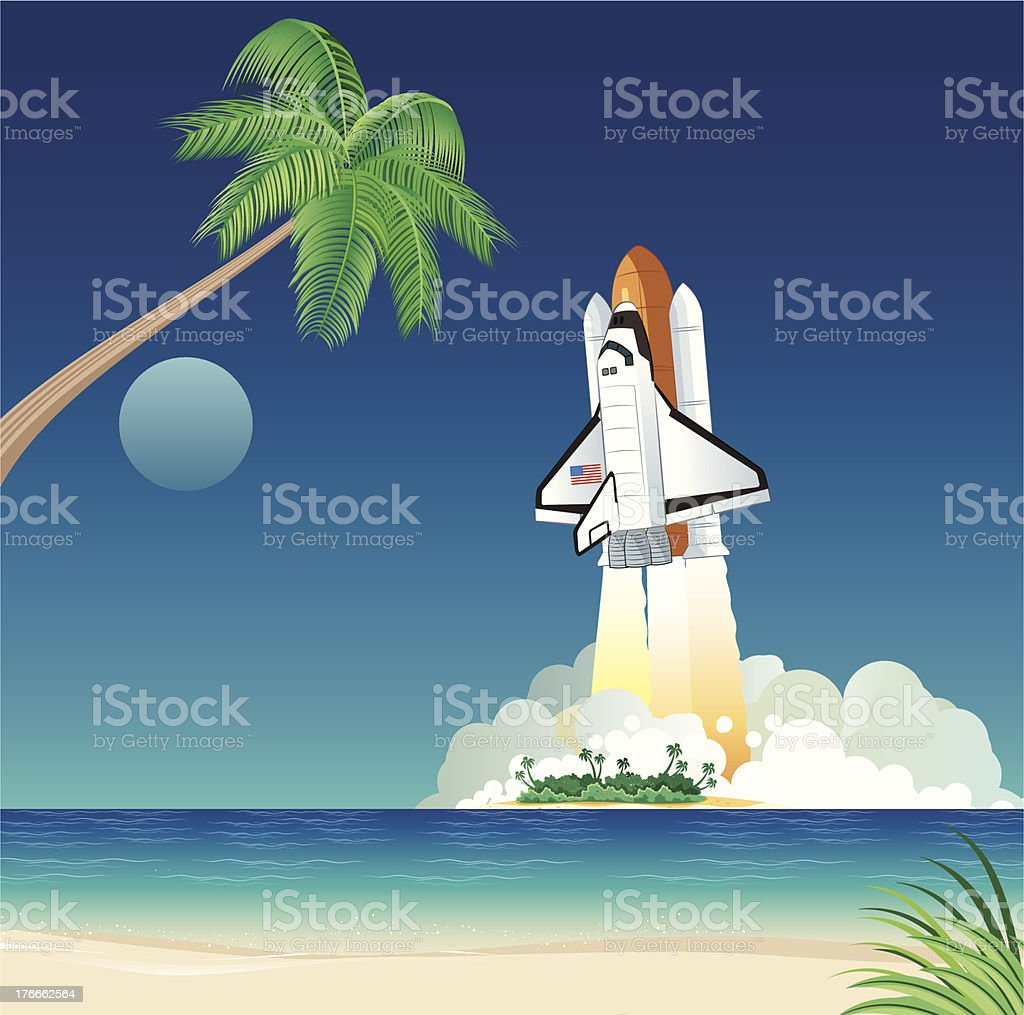 Space shuttle royalty-free space shuttle stock vector art & more images of beach