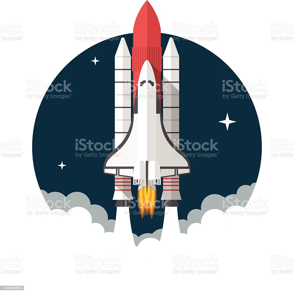 space shuttle stock vector art more images of 2015 470134574 istock rh istockphoto com space shuttle vector eps