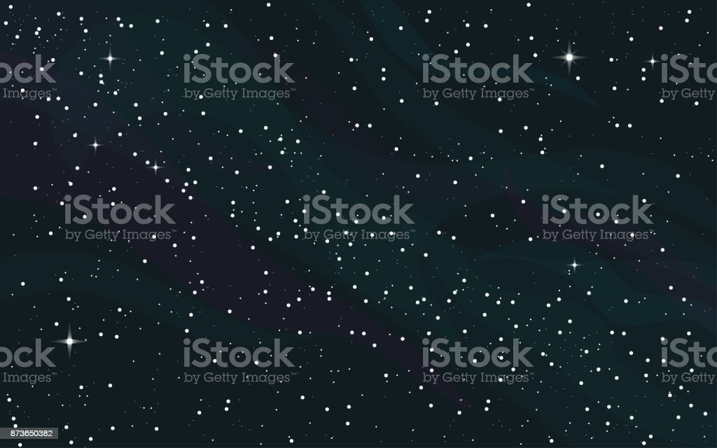 Sternenhimmel Hintergrund Platz – Vektorgrafik