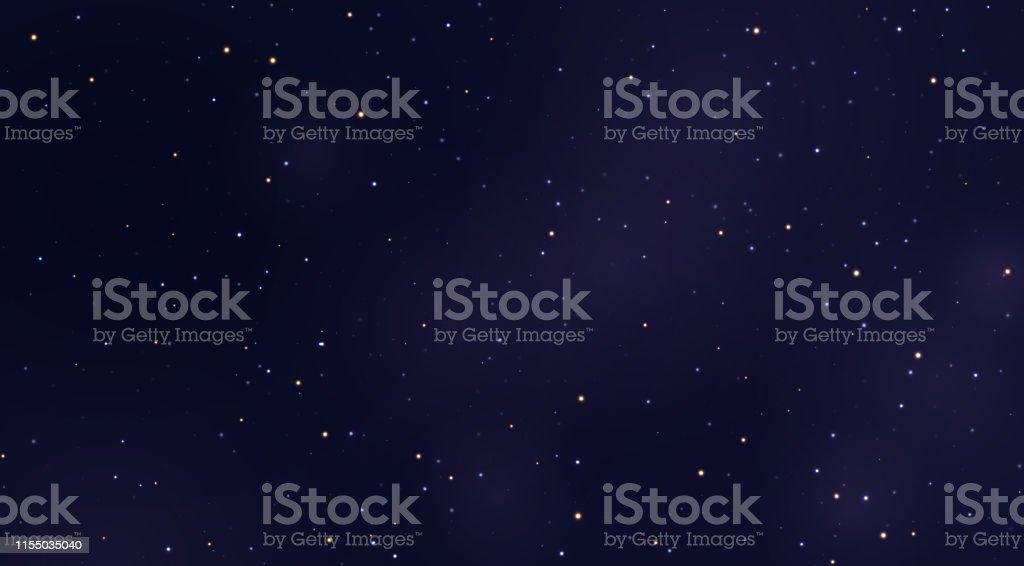Space stars background. Light night sky vector - Grafika wektorowa royalty-free (Abstrakcja)