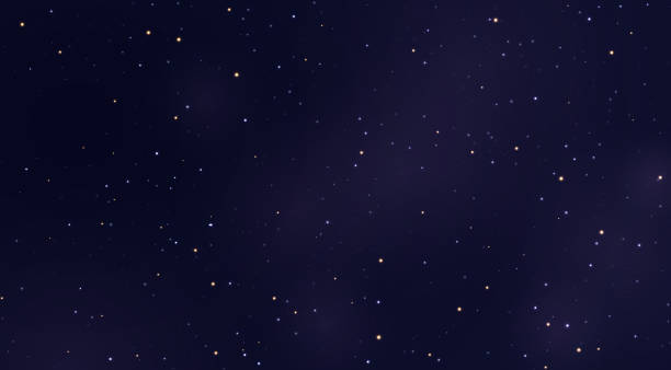 illustrazioni stock, clip art, cartoni animati e icone di tendenza di space stars background. light night sky vector - stelle