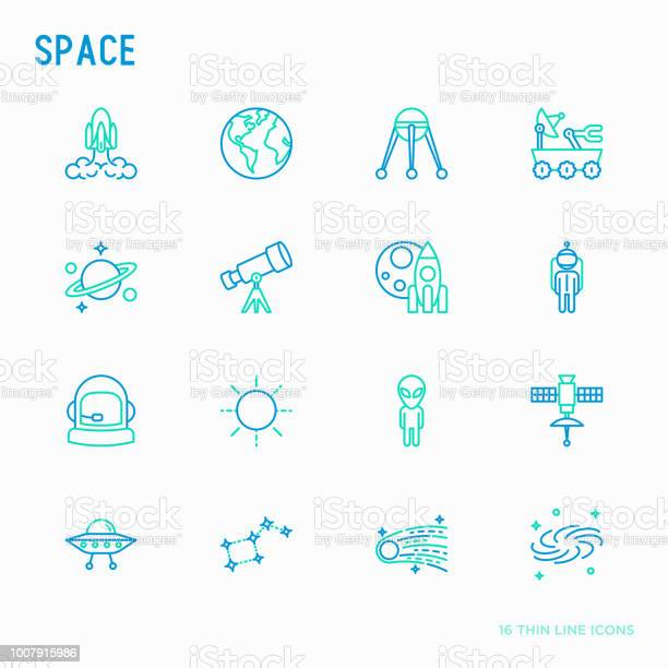 Space thin line icons set rocket earth lunar rover space station vector id1007915986?b=1&k=6&m=1007915986&s=612x612&h=hsbyipo5idupmgypk4r1mrig49f kael93jo5wiqiqg=