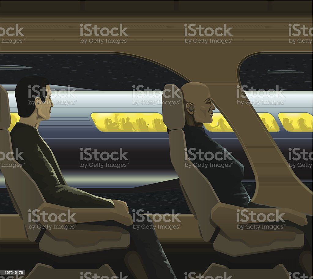 Space travel busy royalty-free stock vector art