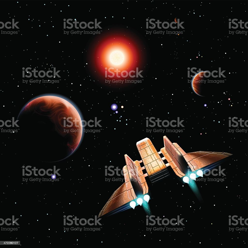Space travel royalty-free stock vector art