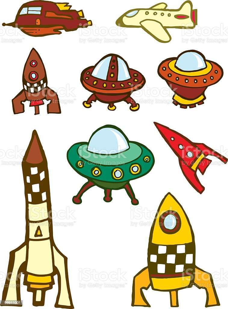 Space Travel - Royalty-free Airplane stock vector