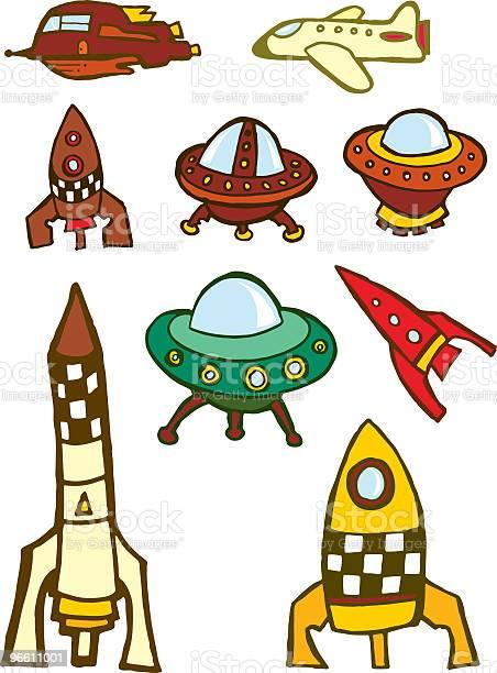 Space Travel-vektorgrafik och fler bilder på Flygplan
