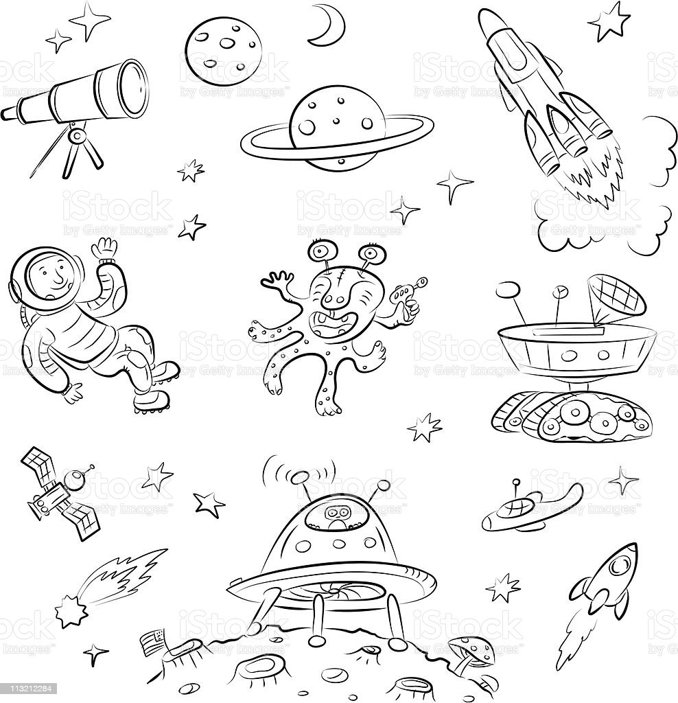 Space royalty-free stock vector art