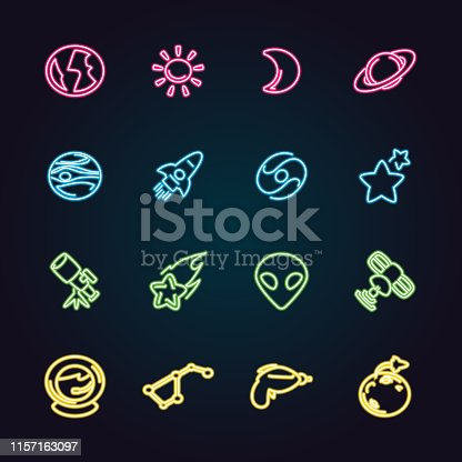 The vector files of space icon set.