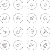 Vector file of space icon