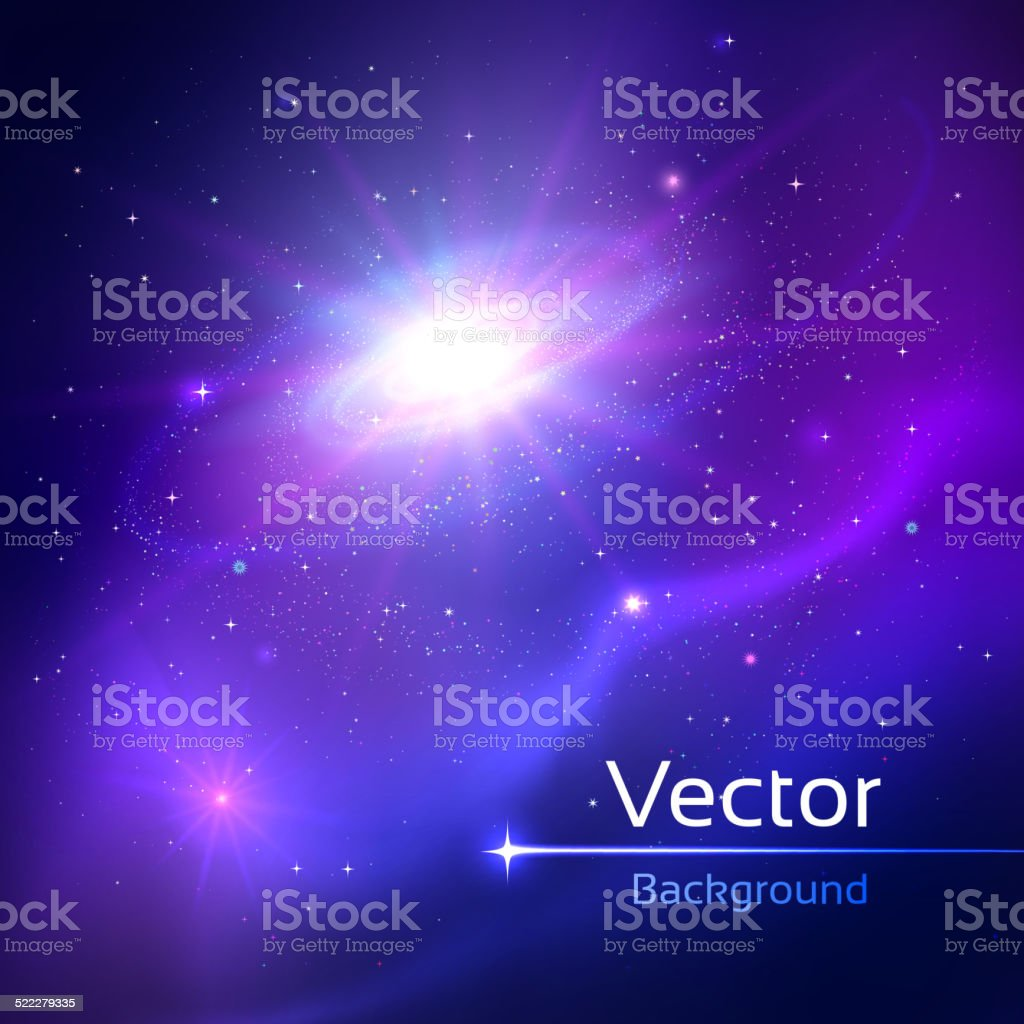 Space. vector art illustration